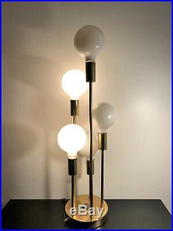 Vtg Mid Century Modern 5 Globe Cascade Table Lamp Atomic Sputnik by Clover