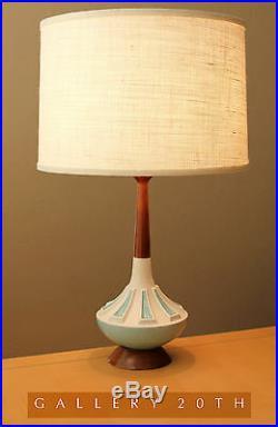 Wow MID Century Danish Modern Sputnik Walnut Table Lamp! Vtg 1950s Wegner Atomic